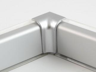 Internal Corner For Convex Skirting - Mini, Matte Chrome