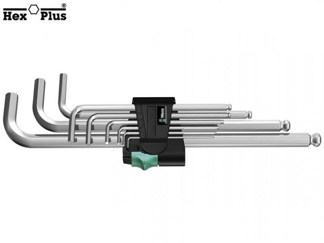 Комплект Г-образни шестостенни ключове Wera 950 PKL/9 SM
