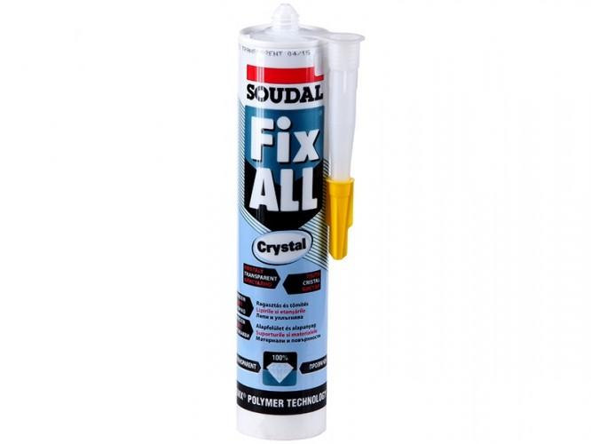 soudal fix all crystal clear sealant adhesive glues. Black Bedroom Furniture Sets. Home Design Ideas