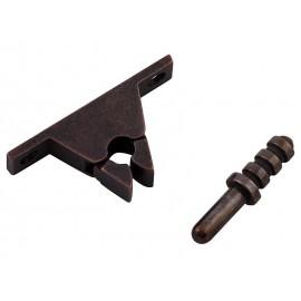 Метален стопер със заключване за интериорни врати - Бронз