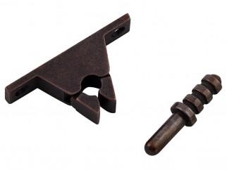 Metal Door Stopper With Locking Mechanism - Bronze
