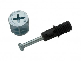 Минификс с болт, пластмасов дюбел и ексцентрик MF-HSG01