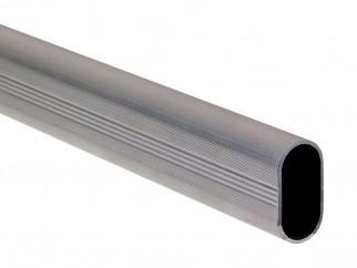 Oval Aluminium Wardrobe Rail