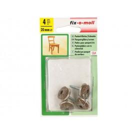 Вълнени плъзгачи с винт за крака на мебели Fix-o-moll - ф20 мм, 4 бр.