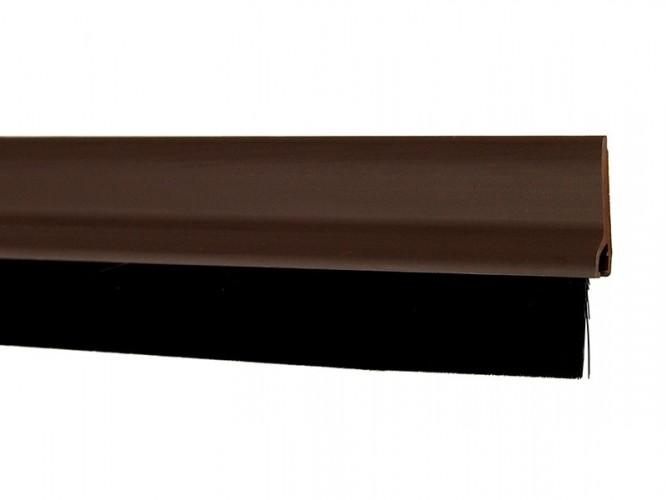 Стандартно уплътнение за под врата с четка Fix-o-moll - кафяв