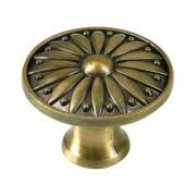 Ретро дръжка за мебели KAMA 92701 - С един винт, Старо злато