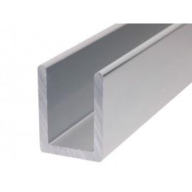 П-образен алуминиев профил за стъкло с дебелина 8 мм - 2.2 метра