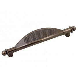 Ретро дръжка за мебели UR042 - 96 мм, Старо сребро
