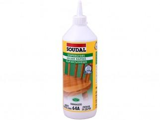 Бързосъхнещо лепило за дърво Soudal 64A D2 - 750 грама