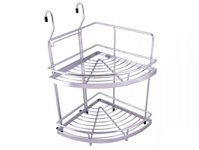 Двуетажна кухненска ъглова поставка за окачване