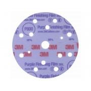 Абразивен велкро диск с филмова основа 3M 260L Hookit - ф150 мм, P800