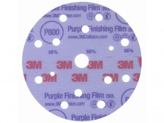 3M 260L Hookit Abrasive Velcro Film Discs, P800 - P1500 - Front