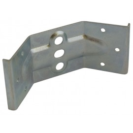Ъглова свързваща планка за маса с пера за вкопаване - 59 мм