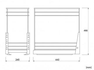 Кухненски кош за вграждане в шкаф DMK-300
