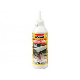 Полиуретаново водоустойчиво лепило за дърво Soudal 66A D4 - 250 грама