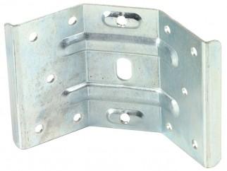 Ъглова свързваща планка за маса с пера за вкопаване - 86 мм
