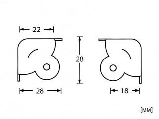 Метален заоблен тристенен ъгъл за тонколони и кейсове Adam Hall 4050