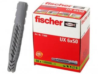 Fischer Universal Plugs UX - 6 x 50 mm, 50 pc.