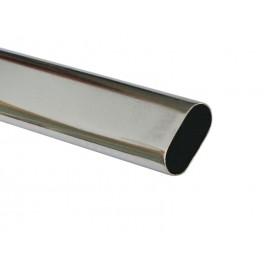 Метален овален лост за гардероб KAMA - 3 метра