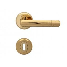 Дръжки за интериорни врати Вега - Обикновен ключ, Злато