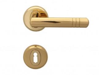 Дръжка за врати Вега - за обикновен ключ, злато