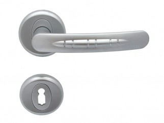 Cobra Door Handle - For Standard Key, matte chrome