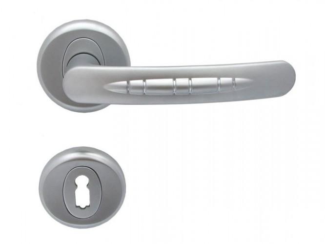 Дръжка за врати Кобра - за обикновен ключ, хром мат