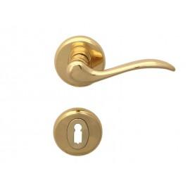 Дръжки за интериорни врати Барон - Обикновен ключ, Злато