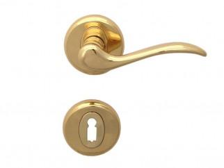 Дръжка за врати Барон - обикновен ключ, злато