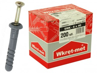 Wkret-met SMK Hammer Drive Fixing With Collar - 6 x 40 mm, Box
