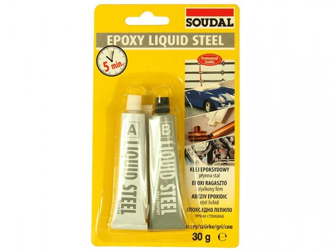 Епоксидно лепило течна стомана Soudal Epoxy Liquid Steel