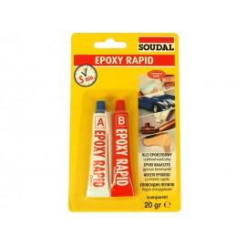 Бързовтвърдяващо се епоксидно лепило Soudal Epoxy Rapid
