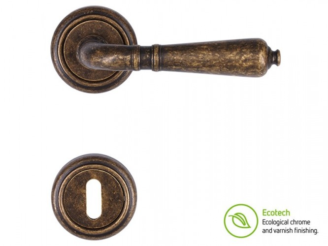 Forme Vintage Antik Interior Door Handles Standard Key Antique Bronze