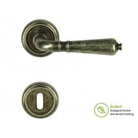 Forme Vintage Antik Interior Door Handles - Antique Silver, For Standard Key