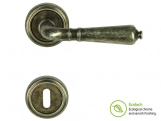 Forme Vintage Antik Interior Door Handles - Antique Silver, For Standard Key