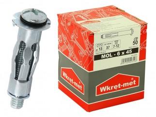 Дюбели-скоби за гипсокартон Wkret-met MOL - 6 x 45 мм