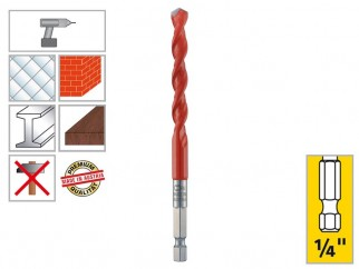 "Alpen Profi Multicut Universal Drill Bit - 1/4"" Hexagonal Shank, 8 mm"
