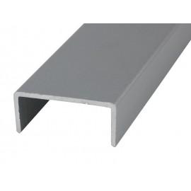 П-образен кант профил за мебели PNC18 - 3 метра, Алуминий