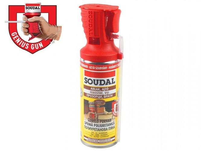 Ръчна монтажна полиуретанова пяна с апликатор Soudal Genius Gun - 300 мл