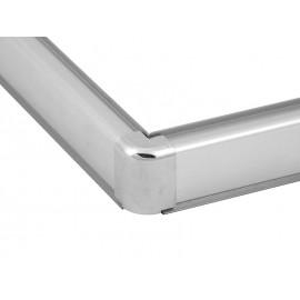 Aluminium Convex Skirting - Mini, Chrome