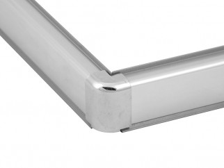 Aluminium Convex Skirting - Mini | Chrome, External Corner
