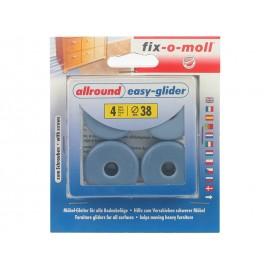 Плъзгачи с тефлоново покритие и винт за крака на мебели Fix-o-moll