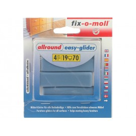 Fix-o-moll Allround Self-adhesive Easy-Glider - 70 x 19 mm