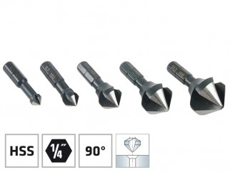 "Alpen HSS Countersinks For Metal - 1/4"" Hexagonal Shank"