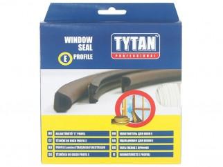 Уплътнителна лента за рамки на врати и прозорци Tytan E-профил