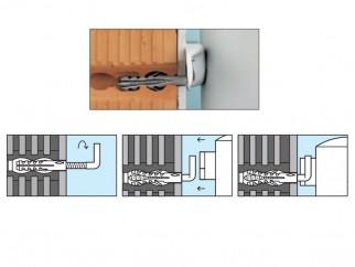 Дюбели с г-образни куки за монтаж на бойлер Fischer WDS