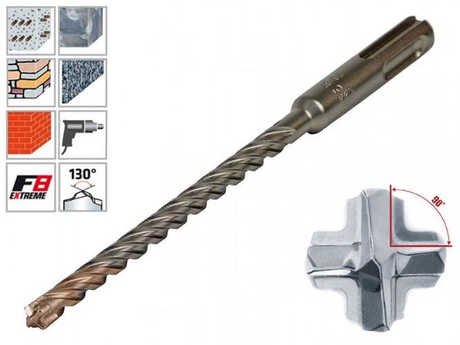 Свредла с четири резци за бетон и гранит Alpen SDS-plus F8 Extreme