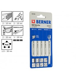 Berner MetalLine 1.2 - 2.6/75 Jigsaw Blades - For Metal