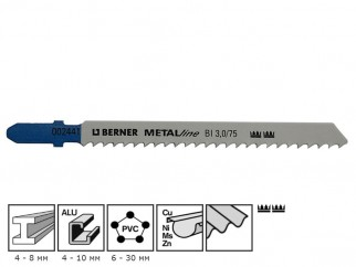Нож за зеге за метал Berner MetalLine BI 3.0/75