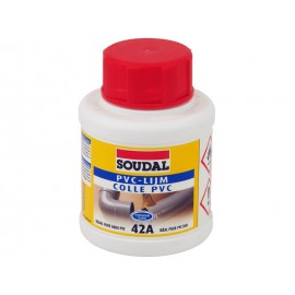 Бързосъхнещо лепило за PVC тръби и инсталации Soudal 42A - 250 мл